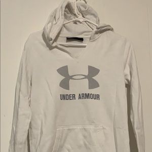 Under armour hoodie white